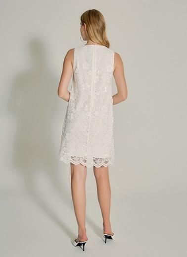 NGSTYLE Dantel Elbise Beyaz